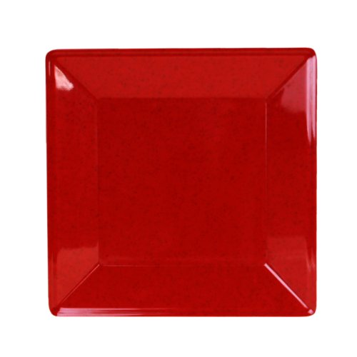 Excellanté Royal Red Collection 8-1/4 By 8-1/4-Inch Square Plate, 1-3/4-Inch Deep, Royal Red