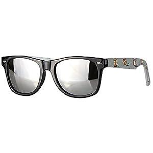 caripe Wayfarer Sonnenbrille verspiegelt - SP (Eule grau - silber verspiegetl)