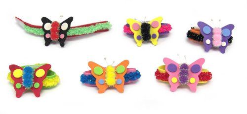 Darice Foamies Pom Butterfly Bracelet Kit