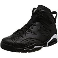 Nike Men's Air Jordan 6 Retro Shoes (Black/White)