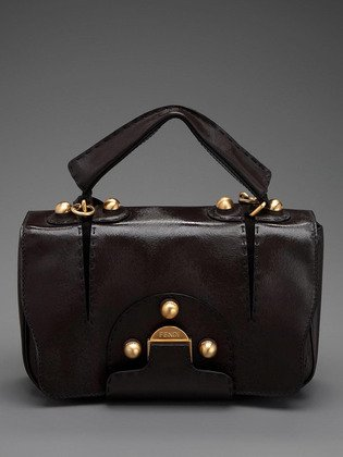 FENDI -Secret Code Dark Brown Handbag shoulderbag satchel - - 8BN199