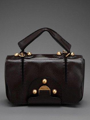 FENDI -Secret Code Dark Brown Handbag shoulderbag satchel - - 8BN199