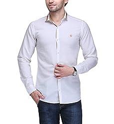 Casual Shirt (HS4237_Maroon_Large, WHT Macoro White Large White Large (HS4237_Maroon_Large_White_large)