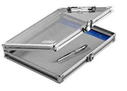 Vaultz Locking Storage Clipboard for Letter Size Sheets, Clear Acrylic (VZ00164-CLR)