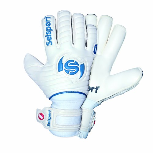 Selsport Wrappa Aqua Unisex Football Goalkeeper Glove - White, Size 10