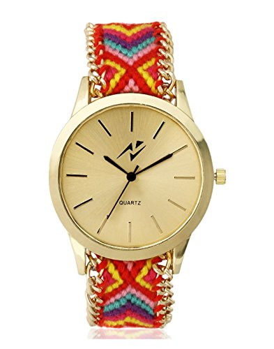 Yepme Women's Ribbon Watch – Golden/Multicolor