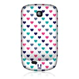 Ecell - HEAD CASE PINK TURQUOISE MULTI-COLOURED HEART CASE FOR SAMSUNG GALAXY MINI S5570