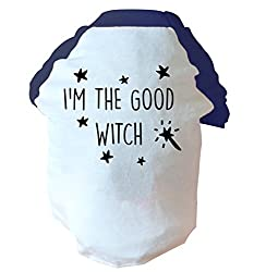 I'm the good witch two toned dog vest pink or blue