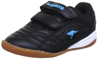 KangaROOS Babyyard 0040A Unisex-Kinder Sneaker, Schwarz (blk/scubablue 541), EU 21