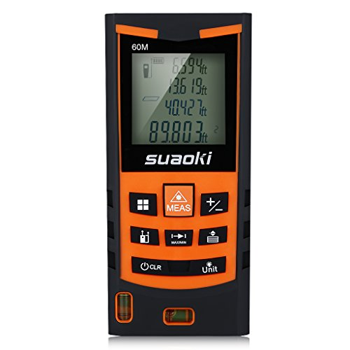 Suaoki S9 200ft Portable Laser Measure Laser Distance Measure with Pythagorean Mode, Area&Volume Calculation, Range Finder / Digital Tape Measure (Laser Measure Outdoors compare prices)