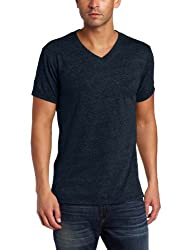 Threads 4 Thought Men's Triblend V-Neck Tee, Midnight, Large