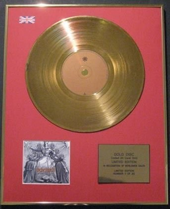BEHEMOTH Ltd-Edt CD in oro 24 k, EVANGELION a disco