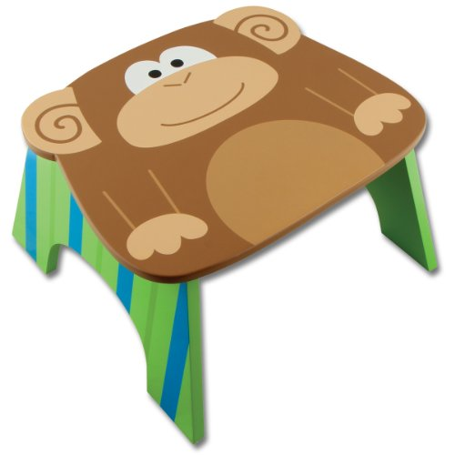 Stephen Joseph Step Stool, Monkey (Discontinued by Manufacturer)
