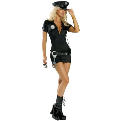 Stop Traffic Cop Costume - Medium/Large - Dress Size 6-10