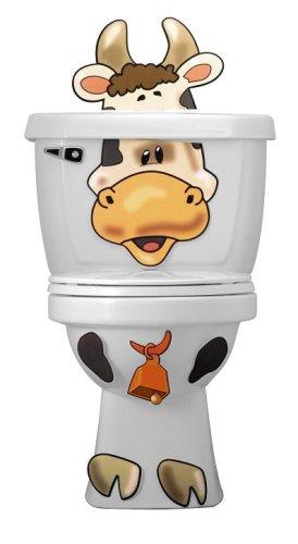 Toilet Buddies Toilet Decoration COW