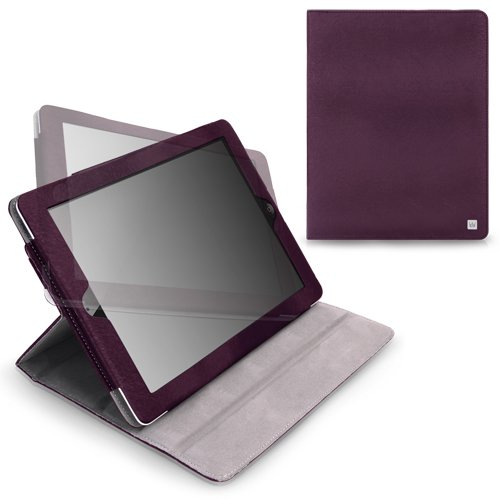 CaseCrown Axis Flip Case (Purple) for iPad 4th Generation with Retina Display, iPad 3 & iPad 2 (Built-in magnet for sleep / wake feature)