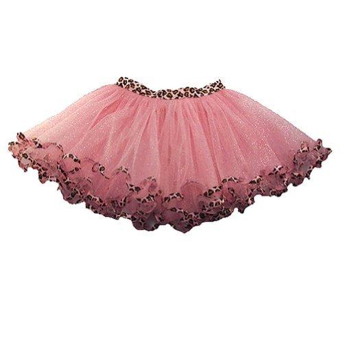 reflectionz Little Girls Pink Leopard Trim Dance Ballet Tutu 2-6 Reflectionz
