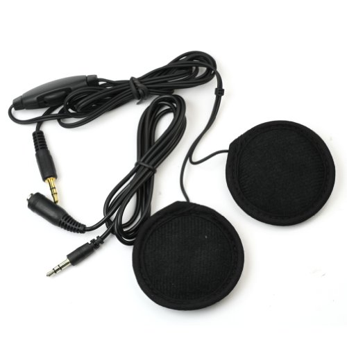 Powerart Motorbike Motorcycle Helmet Stereo Speakers Volume Control For Mp3/4 Radio Ipod