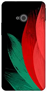 The Racoon Lean tulip chinese brush hard plastic printed back case / cover for HTC One (M7)