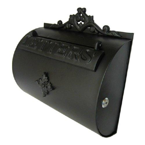European villa mailboxes outdoor semicircle aluminum black letterboxes