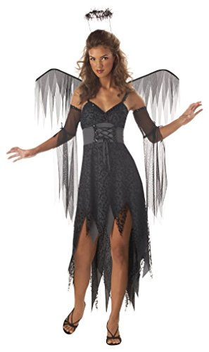 [Fancy Wicked Angel Dark Evil Fallen Wings Teen Costume] (Dark Fairy Wings Costume)