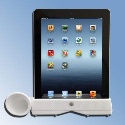 Mighty Gadget Portable Stylish Acoustic Horn Stand & Stero Amplifier Speaker Dock For Ipad 2 3 (Random Color)