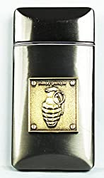 Designer Butane Jet Flame Cigarette Lighter In Glossy Finish Black-FCS-LIT-349