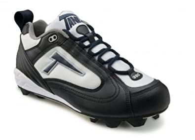 Buy Tanel 360° RPM Lite Low Cut Ladies Fastpitch Softball Cleat, Black White & Navy. Medium (D)... by Tanel 360