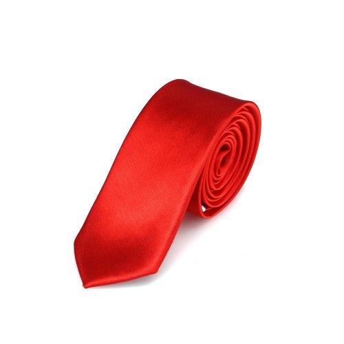 Cravatta DonDon Uomo rossa 5 cm di larghezza