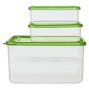 Oggi Chill-to-Go 7-Piece Food Container Set in Green