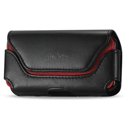 Premium Leather Belt Clip Pouch Case for Samsung Galaxy S5, S6 and S6 Edge (Fits with Otterbox Case / Lifeproof Case / Battery Case / Armor Case On) (Belt Case Samsung S5 compare prices)