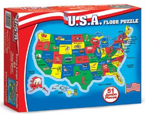 Picture of Pcs Group 51 pc USA Map Floor Puzzle - (Child) (B0039D1810) (Floor Puzzles)