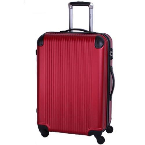 [BB-Monsters ビービーモンスターズ] スーツケース 大型 中型 小型 超軽量 TSAロック搭載 ファスナータイプ FlowerFairy (Mサイズ中型, レッド)