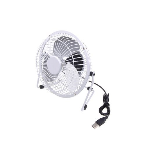 White Portable Mini Super Mute PC USB Cooler Cooling 8 Inch Desk Fan