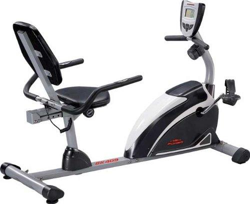 HIGH POWER BK 409 RECUMBENT recumbent magnetica con volano da 6 Kg per allenamento home-fitness, portata max 120 Kg