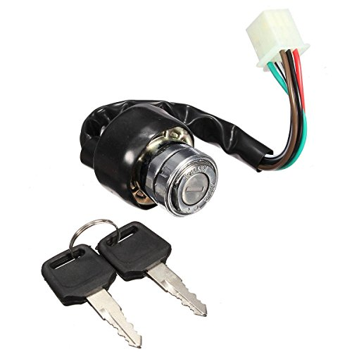 AUDEW Universal Motorcycle Scooter Pit Dirt Bikes Quads Ignition Switch 6 wires 2 Keys (Race Ignition Switch compare prices)