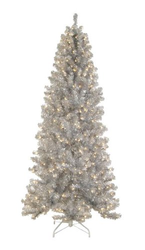 65-Pre-lit-Silver-Tinsel-Noble-Pine-Artificial-Christmas-Tree-Clear-Lights
