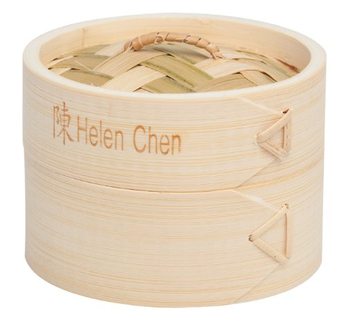 Helen Chen's Asian Kitchen 4-Inch Bamboo Steamers, Set of 2