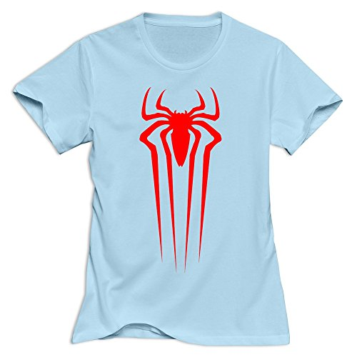 Yisw Female Spiderman Front Logo T-Shirt Cotton Quotes T-Shirts