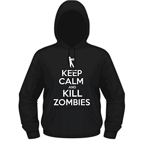 Creepyshirt - KEEP CALM AND KILL ZOMBIES HOODIE - L