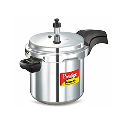 Home and Kitchen Cookware Deluxe Plus Aluminium 5 ltrs Pressure Cooker