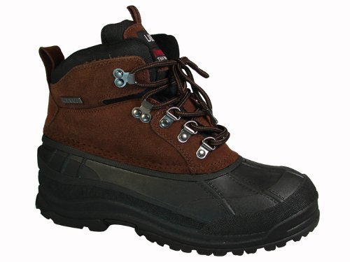 New Labo Brand Men's Brown Waterproof Snow Boots