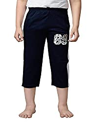 Punkster Cotton Navy Blue 3/4Th For Boys_10-11 Years