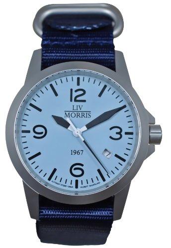LIV MORRIS 1967 VALBERT No. 1, sportliche Herrenuhr, Ø 42mm, feine Automatikuhr, massiv Edelstahl, Saphirglas, 10BAR wasserdicht, mechanisches SeaGull-Automatik-Uhrwerk