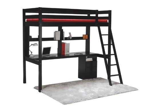 quaidesaffaires lit mezzanine kim 90x190 caisson 3. Black Bedroom Furniture Sets. Home Design Ideas