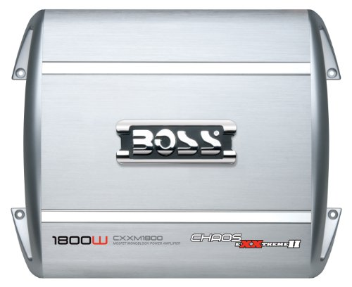 Boss Audio Cxxm1800 Chaos Exxtreme Ii 1800-Watts Monoblock Class A/B 1 Channel 2-8 Ohm Stable Amplifier With Remote Subwoofer Level Control