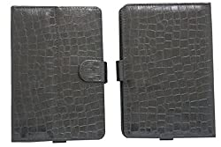 7&Seven G11 CROC FLIP FLAP CASE COVER POUCH CARRY STAND FOR ZYNC DUAL 7 BLACK