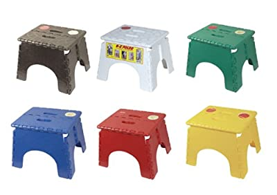 B&R Plastics 101-6AS-ASST EZ Foldz Step Stool - Pack of 6