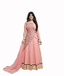 Kashmira's georgette party wear embroidered anarkali suit
