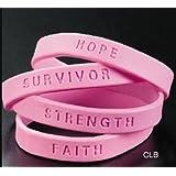 144 Breast Cancer Awareness Pink Bracelets (Pack of 144)